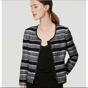 NWT LOFT Black Siesta Jacket Size 2P
